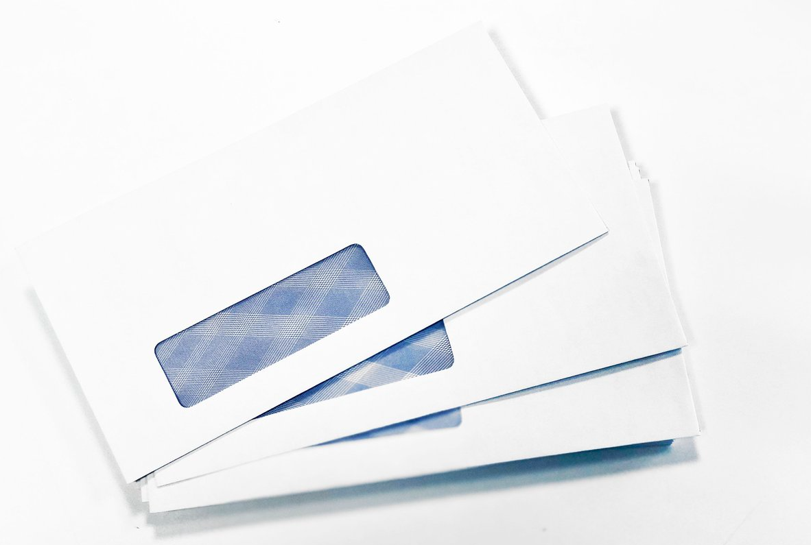 window faced envelope